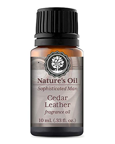 Cedar Leather Fragrance Oil 10ml for Men's Cologne, Diffuser Oils, Making Soap, Candles, Lotion, Home Scents, Linen Spray and Lotion -