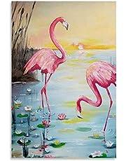 Legpuzzels voor volwassenen kinderen 1000/500/300/200/120 stuk roze flamingo dier en foto moderne educatieve intellectuele decolratie speelgoed puzzels GEEN frame