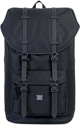 Herschel Supply Co. Men's Little America Perforated Detail Backpack, Black/Black, One Size