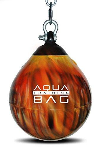 Fireball Orange Aqua Head Hunter 12 Inch, 35 Pound Slip Ball Punching Bag Hybrid by Aqua Training Bag