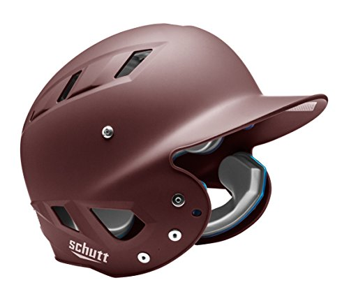 Schutt Sports Senior OSFM 3110 AIR MAXX T 4.2 BB Batter's Helmet, Maroon Matte Clear ()