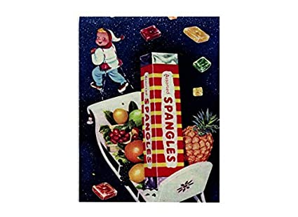 Assorted spangles sweets vintage style metal wall plaque sign