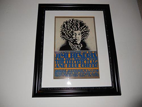 Large Framed Jimi Hendrix Blue Cheer Electric Flag 1968 Poster Rare