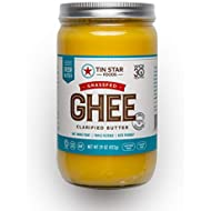Grassfed Ghee by Tin Star Foods (29 OZ): Clarified Butter | Keto and Whole 30 Approved | Lactose-Free | 100% Grassfed Ghee