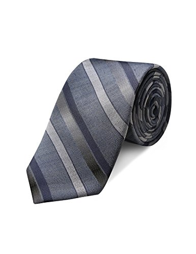Striped Silk Skinny Tie (Origin Ties Mens Fashion Silk 2.5