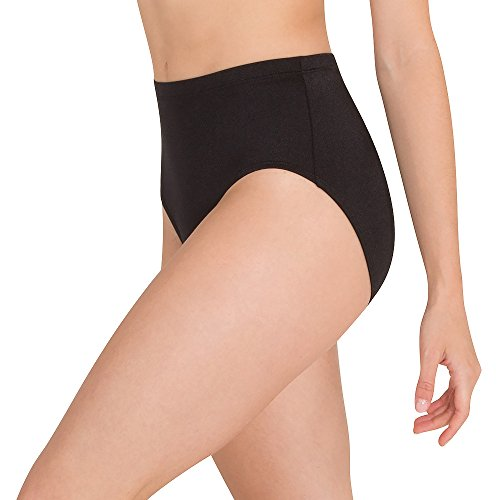 Body Wrappers Womens Shiny Brief Black Small ()