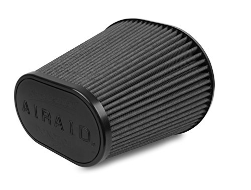 Airaid 722-243 Universal Clamp-On Air Filter: Oval Tapered; 6 in (152 mm) Flange ID; 8 in (203 mm) Height; 9.156 in x 7.5 in (233 mm x 191 mm) Base; 6.375 in x 3.875 in (162 mm x98 mm) Top