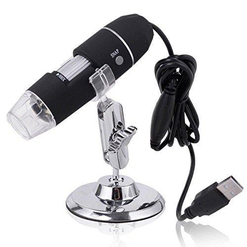 New 50-500X 2MP USB 8 LED Light Digital Microscope Endosc...