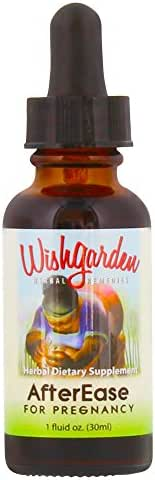 WishGarden Herbs - AfterEase, Organic Herbal Supplements for After Birth Pains, Soothes Normal and Temporary Afterbirth Contractions (1 oz)