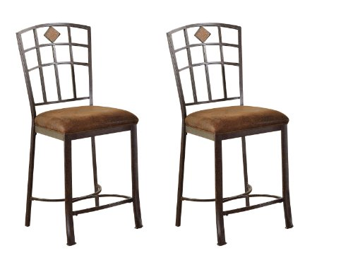 ACME 96062 Set of 2 Tavio Counter Chair, 24-Inch
