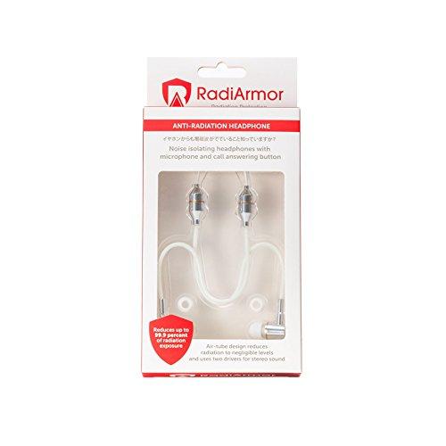 Radiarmor Anti Radiation Air Tube Headphones   Blocks Emf For Radiation Free Comfort  White
