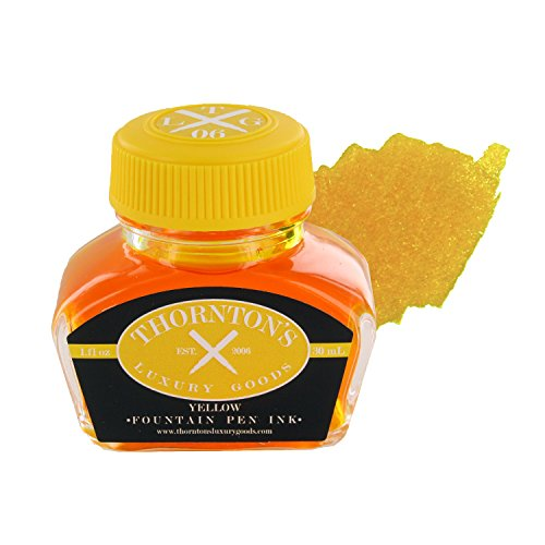Thornton's Luxury Goods Fountain Pen Ink Bottle, 30ml (Yellow)
