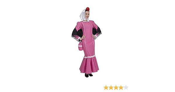 Disfraz de Madrileña Chulapa Rosa (Talla M/L): Amazon.es: Juguetes ...