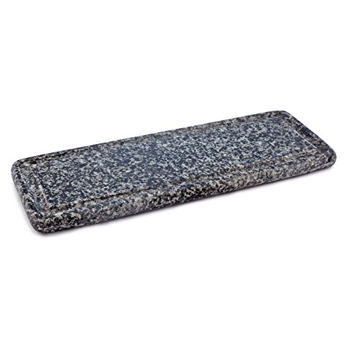 Swissmar KF-77073S Swivel Raclette Stone Grill Plate Replacement, Granite
