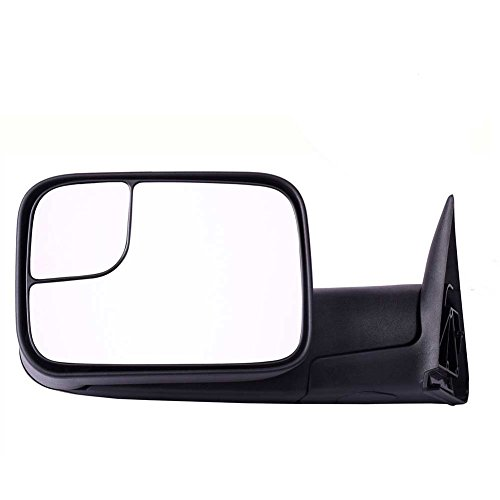DEDC Dodge Tow Mirrors Dodge Ram 1500 2500 3500 Towing Mirrors Left Drivers Side Manual Folding With Support Brackets For 1994-2002 Dodge Ram 1500 2500 3500 (Ram 2500 Mirror Lh Driver)