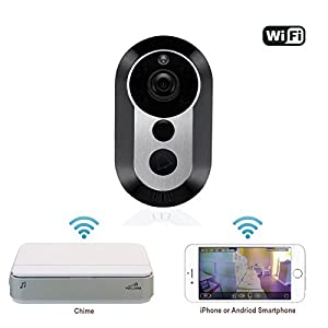 Xenon Wifi Wireless Doorbell With Security Camera,Motion Detection, iOS & Android App, HD Video