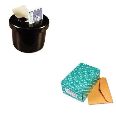KITLEE40100QUA54301 - Value Kit - Quality Park Open Side Booklet Envelope (QUA54301) and Lee Ultimate Stamp Dispenser (LEE40100)