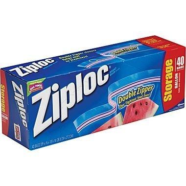 Ziploc Storage Bags Gallon,38 Count ( Case of 9 ) total 342 Count