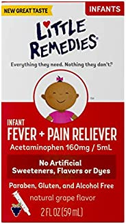 Little Remedies Infant Fever & Pain Reliever | Natural Grape Flavor | 2 F