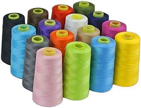 Laliva 17 colores 3000 yardas Overlocking máquina de coser ...