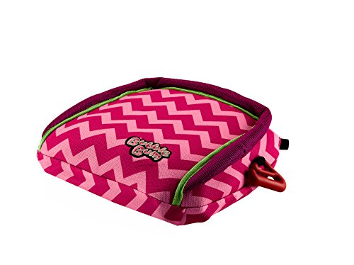 BubbleBum Backless Inflatable Booster Car Seat, Pink Chevron