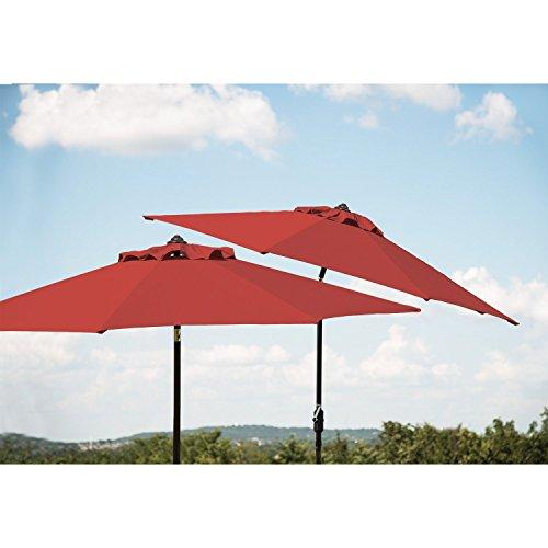 Member's Mark 10' Red Market Umbrella Premium Sunbrella Fabric (Fabric Premium Sunbrella)