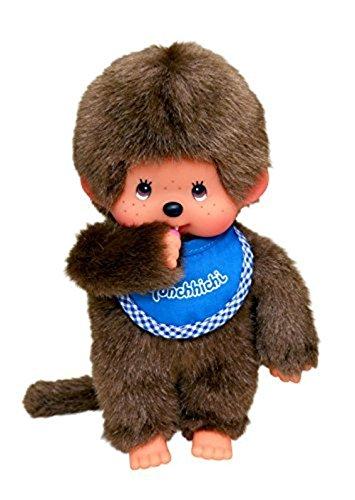 Big Game Toys~New Retro MONCHHICHI BOY Original Plush Monkey Doll-Blue Bib