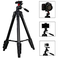 Camera Tripod, Phone Tripod, Gopro Tripod, iStabilizer Travel Tripod with Phone adapter, Gopro Adapter, Quick Release Plate, Tripod Bag for Camera, Smartphone and Gopro