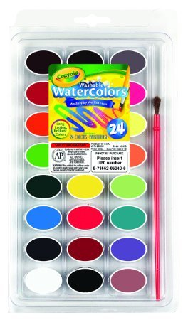 Crayola Washable Watercolors, 24 count (53-0524)