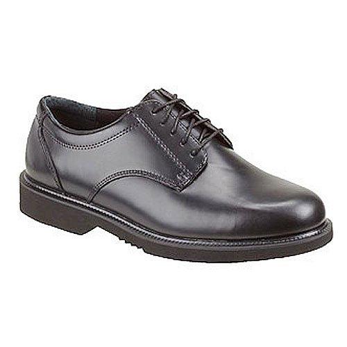 - Thorogood Men Classic Black Leather Academy Oxford Service Uniform Shoe- 10 XW