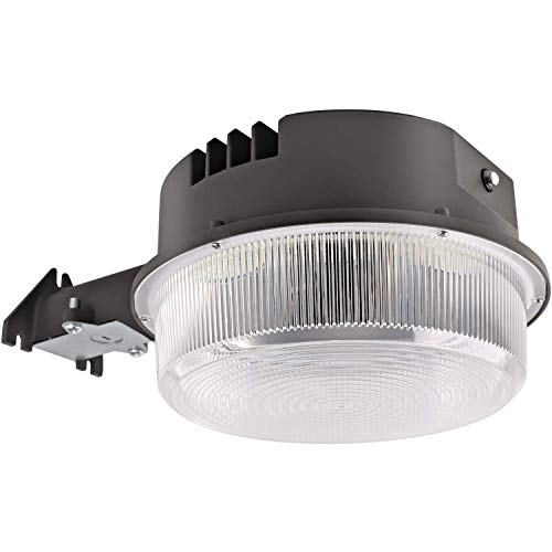 Area Light Security (Hykolity LED Barn Light 58W, 7540lm Dusk to Dawn Yard Light with Photocell, Outdoor Security/Area Light, 5000K Daylight, 250W MH/HPS Replacement, Dark Bronze Finish)