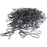 Pack of 250 Small Mini Hair Elastics Silicone Braiding Bands for Dreads Cornrows Braiding (Black) by CyberloxShop