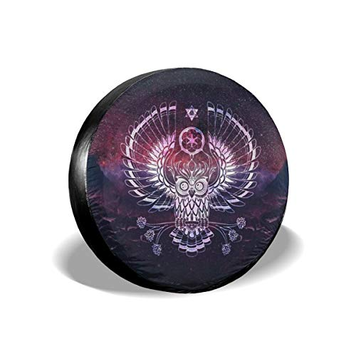 Spare Tire Cover, Starry Sky Owl Printing Wheel