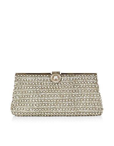 Monsoon Womens Sparkle Bridal Clutch Size 00 Silver