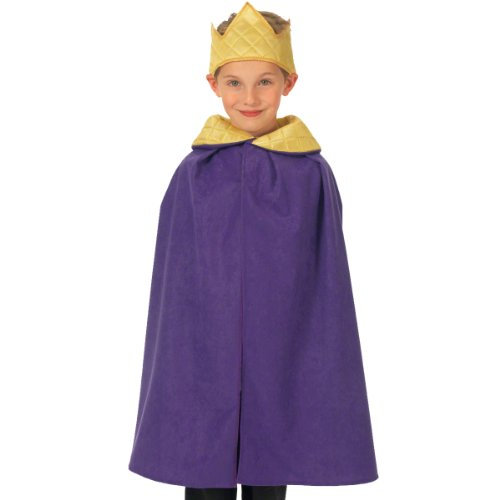 [Purple King / Queen Cloak Costume for kids 3-9 Years] (Swan Princess Costume)