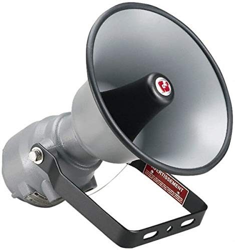 Federal Signal- 15 Max Watt, 13.1 Inch Diameter, Round Aluminum Explosion Proof Horn and Speaker
