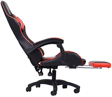 Aiwish Gaming Chair Racing Office Computer Game Chair E-Sports Chair Ergonomic Backrest and Seat Height Adjustment Recliner Swivel Rocker High-Back PC Computer Chair with Headrest and Lumbar Pillow 41RcT9QNvML