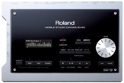 Roland Mobile Studio Canvas Sound Module and Audio Interface SD-50