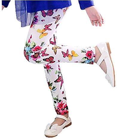 XM-Amigo 2-13 anni Confezione da 4 leggings elasticizzati con motivo floreale