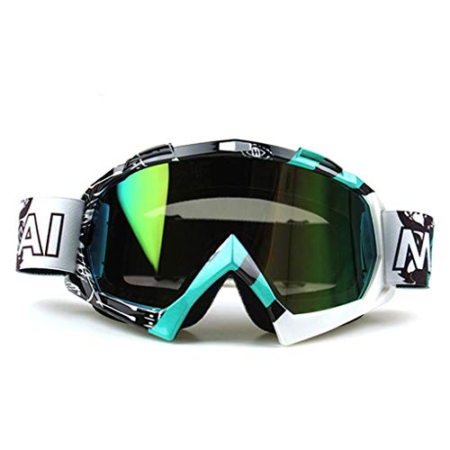 Price comparison product image TSenTr Adult Motocross Goggles Glasses Oculos Cycling MX Off Road Helmet Ski Sport Gafas Motorcycle Dirt Bike Racing Windproof Goggles (D)