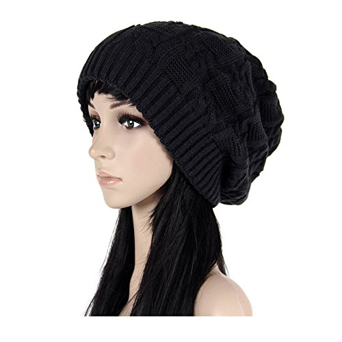 ISEYMI Women's Solid Color Knitted Beanie Hat Slouchy Hat Winter Warm Skullies Cap