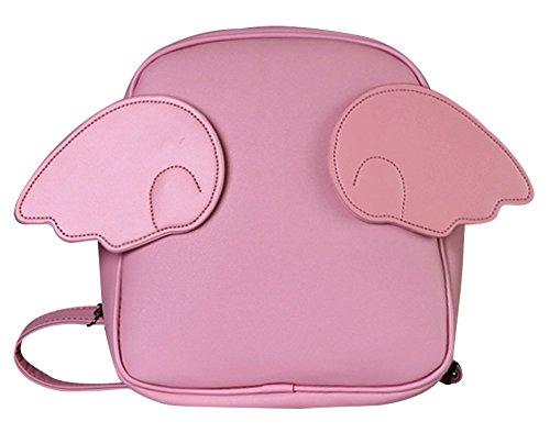 Remeehi Cartoon Candy Color Ali di angelo zaino spalle borsa 6colori (Rosa)