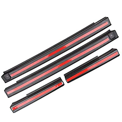 MINGLI Front and Rear Entry Guards Door Entry Sill Plate Protectors for 2007-2020 Jeep Wrangler Front & Rear Door Sill Protector Cover Scuff Plate Entry Guard Black: Automotive