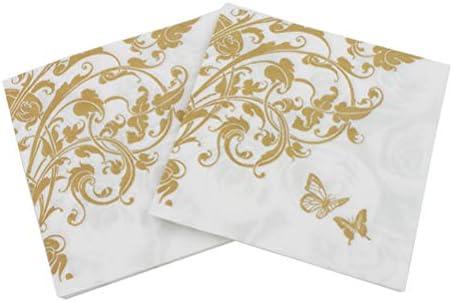 Amazon.com: 100 servilletas de papel desechables de ...