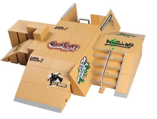 Kofun 11pcs Skate Park Kit Rampe Teile für Tech Deck Griffbrett Mini Finger Skateboard