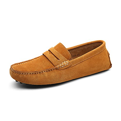DUORO On Slip Classic Mocassini Mocassini Marrone Loafers Uomo Oqxr6vO