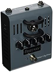 Many pedals strive to emulate the tone and signal path of a tube using solid-state or digital circuitry. The Friedman Motor City Drive has an actual high voltage (220 volt) driven 12AX7A preamp tube. The result is a true natural feeling pedal...