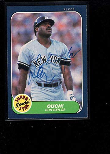 - 1986 Fleer #631 Don Baylor Authentic On Card Autograph Signature Ax8979 - Baseball Slabbed Autographed Cards