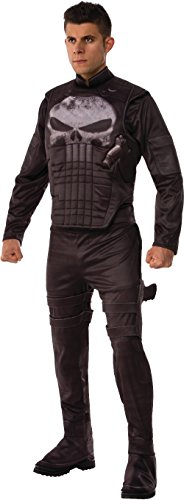 Marvel Men's Universe Deluxe Punisher Costume, Multi, -