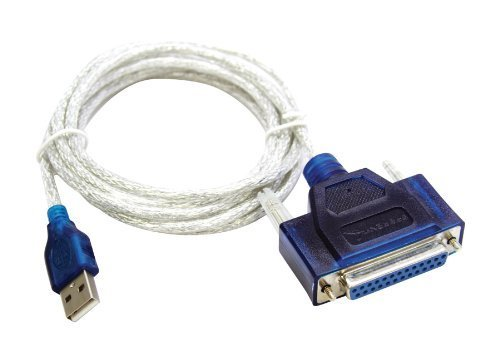 USB to Printer DB25 25-Pin Parallel Port Cable Adapter (Usb To Parallel Port Printer Cable Driver)
